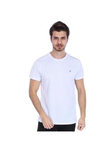 Sportive Spo-Fortunato Erkek Kırmızı Günlük Stil Tişört 710301-0Rd-Sp Beyaz